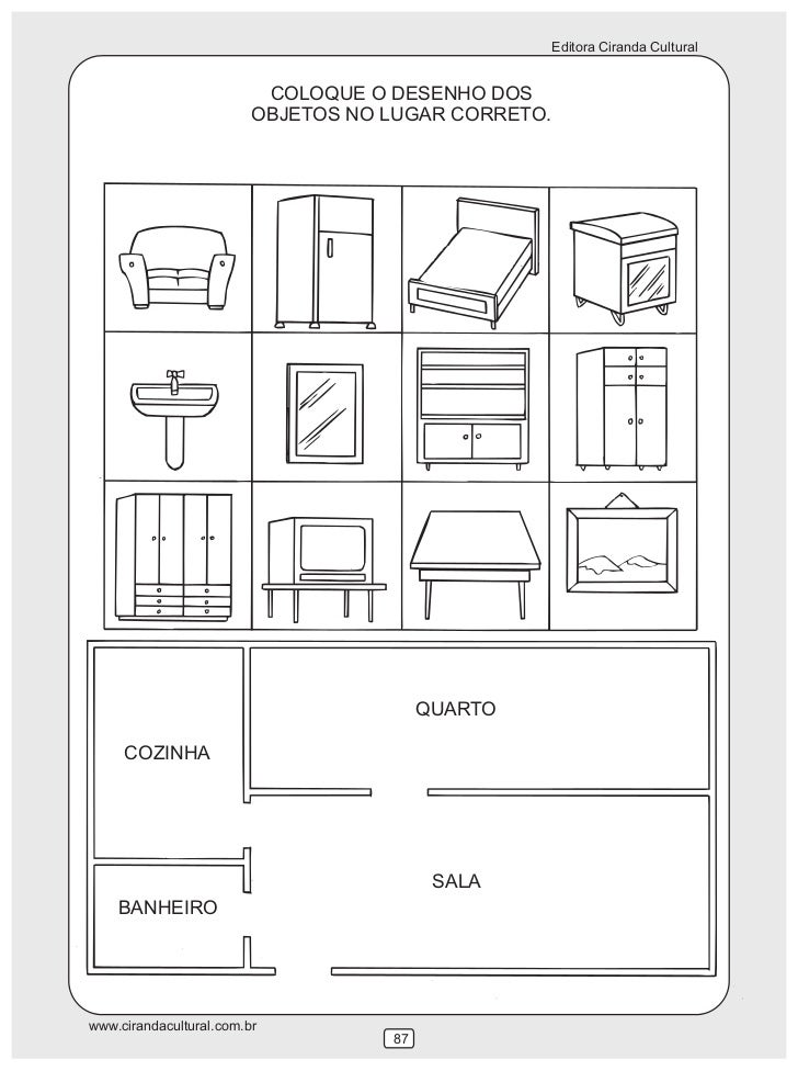 Atividade de matem tica for O que significa dining room em portugues