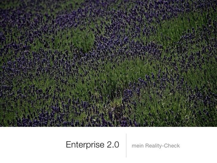 Enterprise 2.0   mein Reality-Check