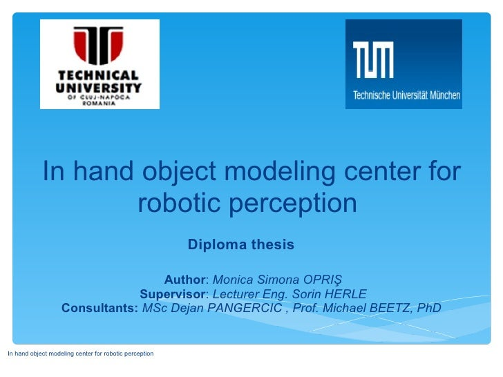 In hand object modeling center for                   robotic perception                                                   ...