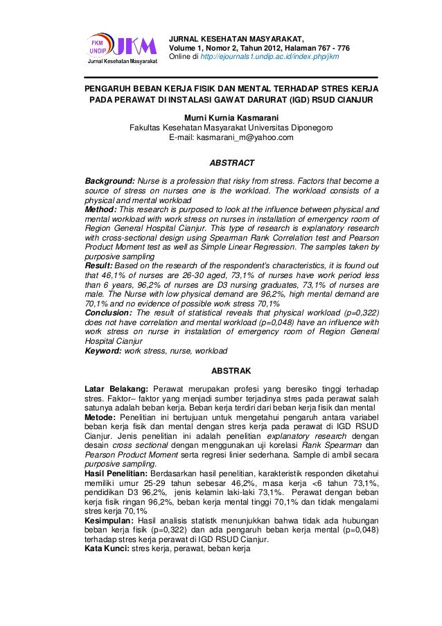 JURNAL KESEHATAN MASYARAKAT,                       Volume 1, Nomor 2, Tahun 2012, Halaman 767 - 776                       ...