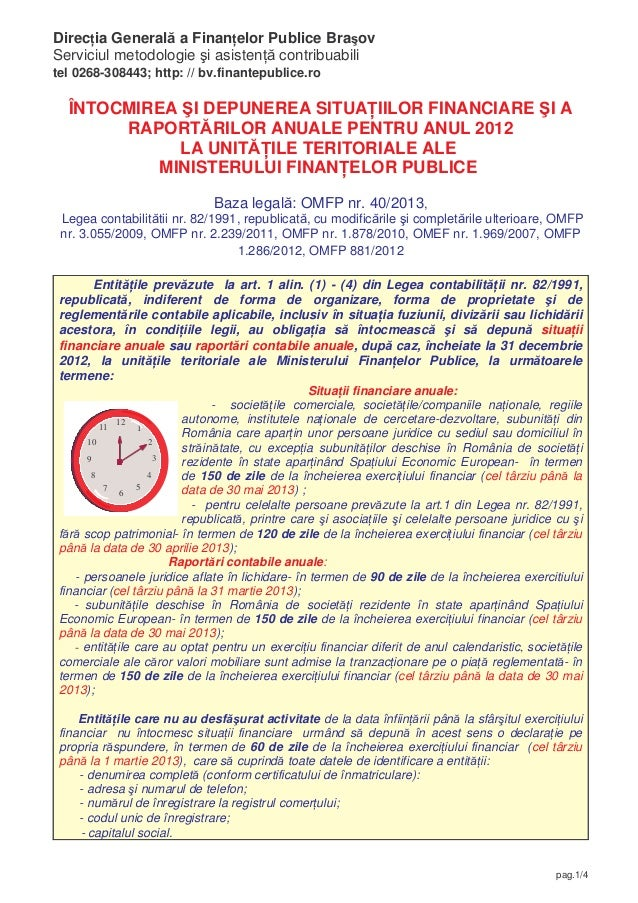 Direc ia General a Finan elor Publice Bra ovServiciul metodologie i asisten contribuabilitel 0268-308443; http: // bv.fina...