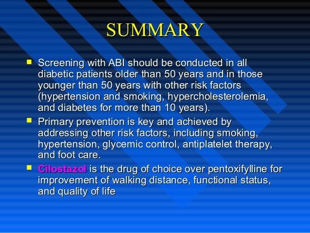 SUMMARYSUMMARY  Screening with ABI should be conducted in allScreening with ABI should be conducted in all diabetic patie...
