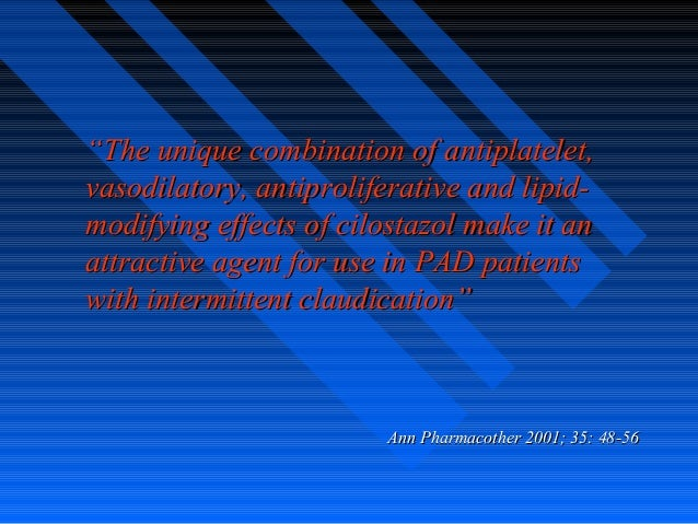 """""""""""The unique combination of antiplatelet,The unique combination of antiplatelet, vasodilatory, antiproliferative and lipid..."""