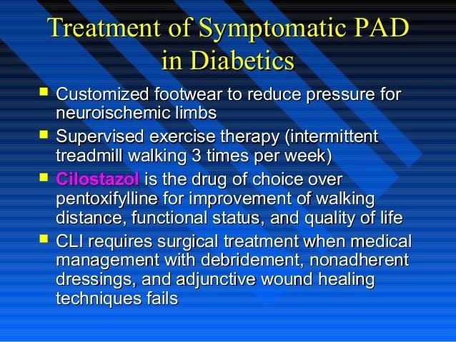 Treatment of Symptomatic PADTreatment of Symptomatic PAD in Diabeticsin Diabetics  Customized footwear to reduce pressure...