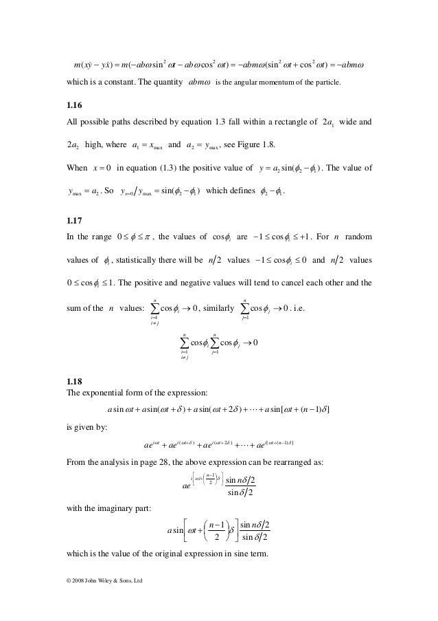physics of vibration and waves solutions pain rh slideshare net vibrations and waves french solutions manual french vibrations and waves solution manual