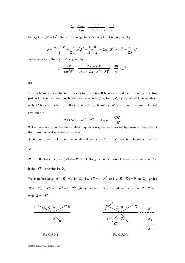 physics of vibration and waves solutions pain rh slideshare net vibrations and waves french solutions manual pdf Physics Vibrations and Waves