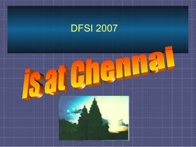 DFSI 2007