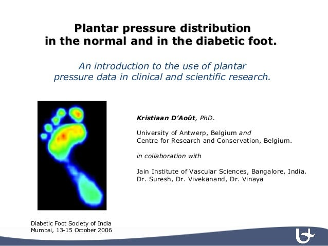 Plantar pressure distributionPlantar pressure distribution in the normal and in the diabetic foot.in the normal and in the...