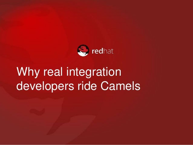 Why real integration developers ride Camels