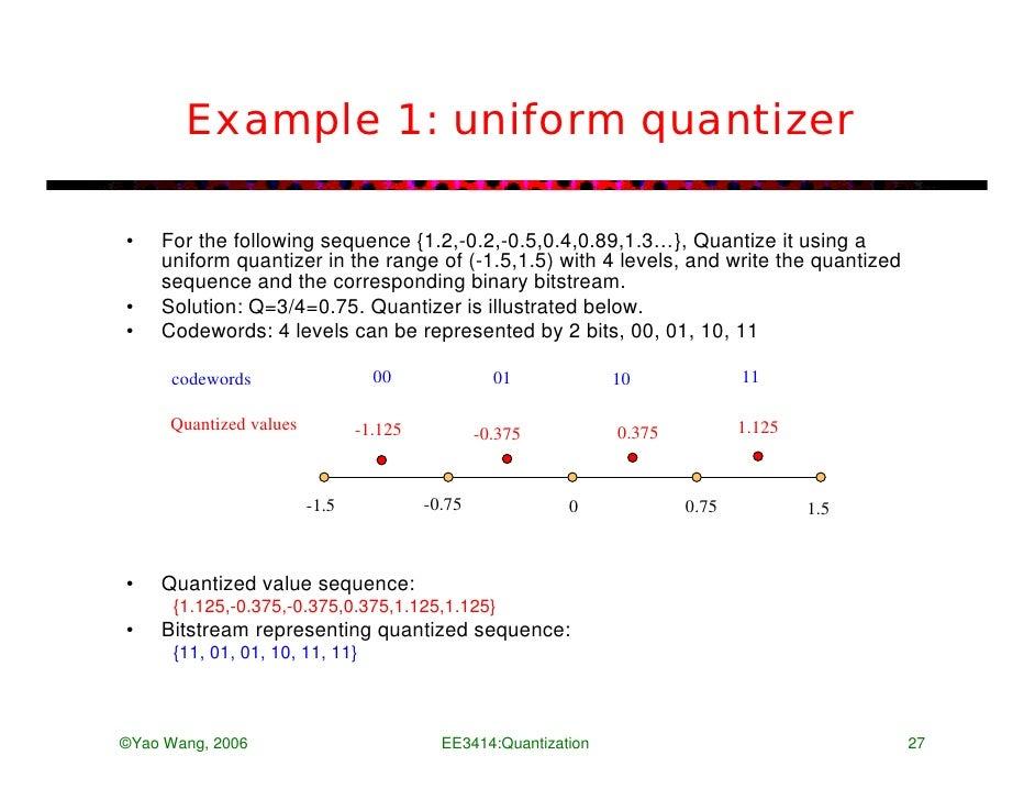 Matlab Program For Uniform Quantization Encoding Psychology