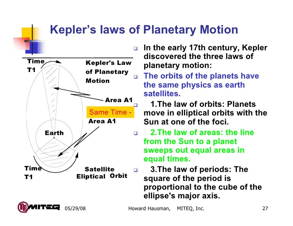 Kepler's laws of Planetary Motion                                          In the early 17th century, Kepler              ...
