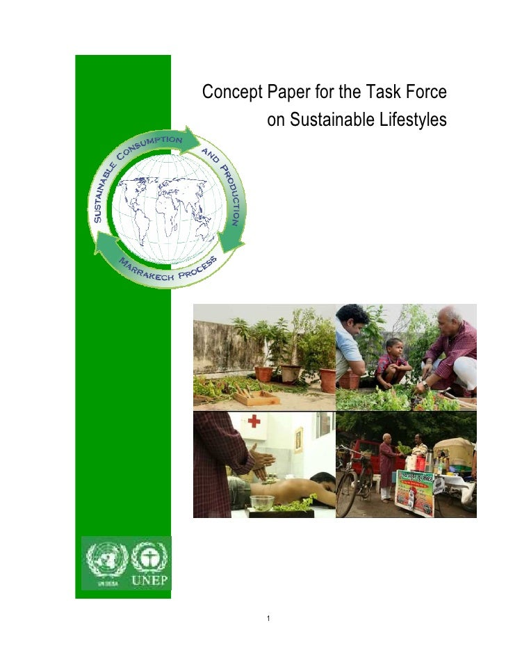 Concept Paper for the Task Force        on Sustainable Lifestyles        1
