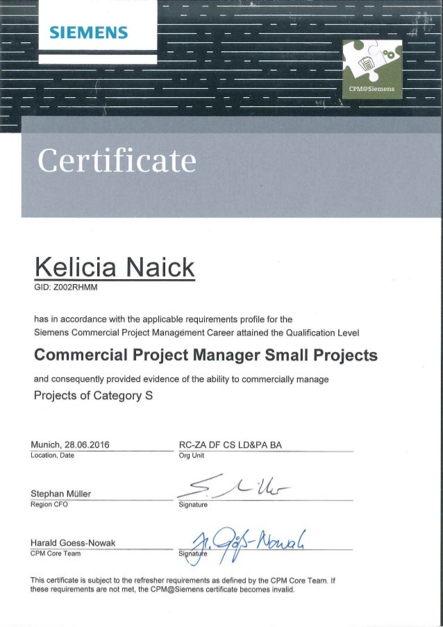 Vianka Kelicia Naick Cpm Certification S Projects