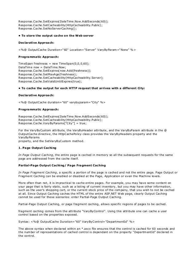 136 latest dot net interview questions