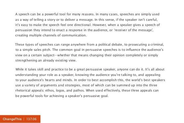 political persuasive speeches