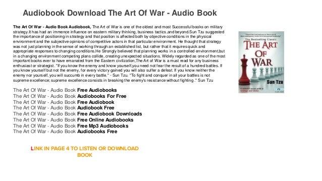 The art of war audiobook by sun-tzu.