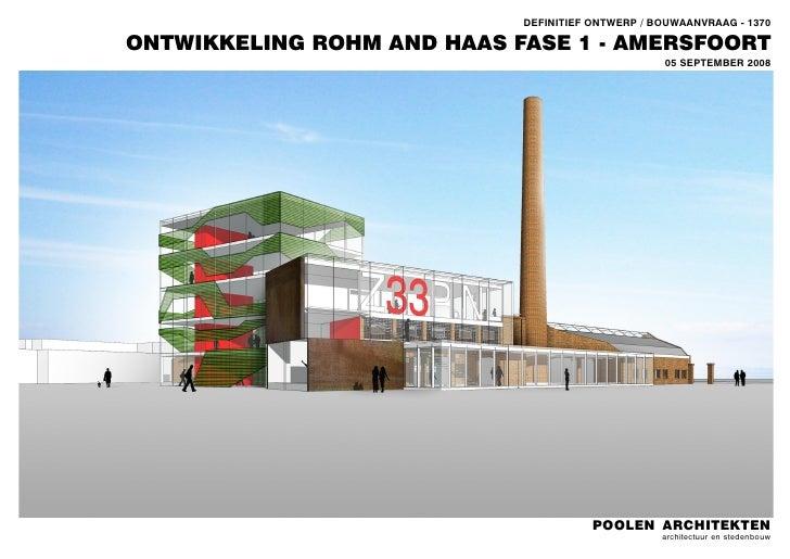 Zeepfabriek Rohm & Haas, Amersfoort