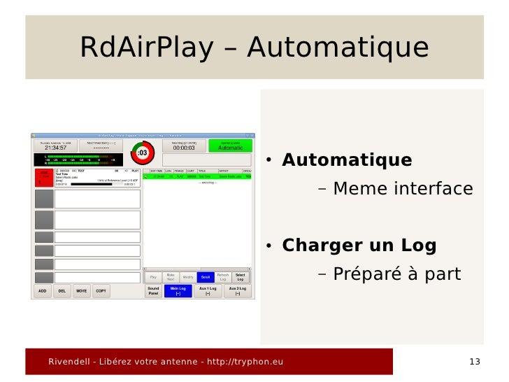 RdAirPlay – Automatique                                                   ●   Automatique                                 ...