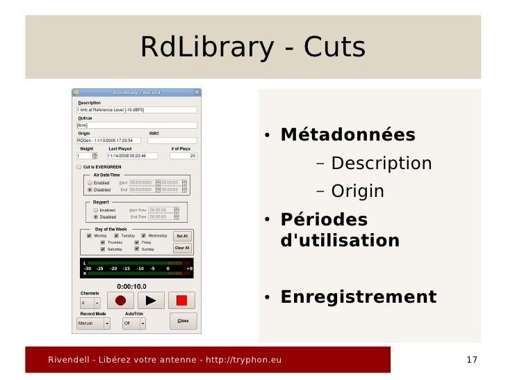RdLibrary - Cuts                                                  ●   Métadonnées                                         ...