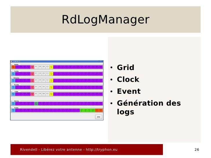 RdLogManager                                                   ●   Grid                                                 ● ...