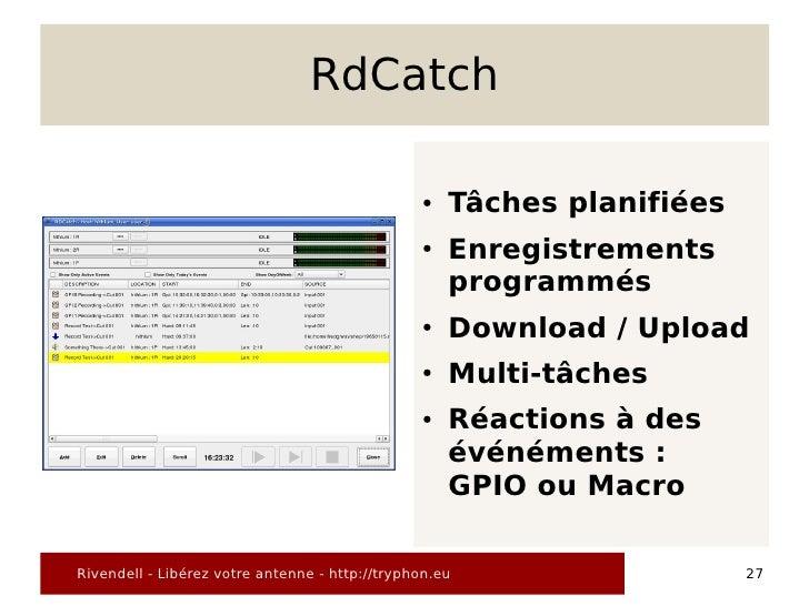 RdCatch                                                  ●   Tâches planifiées                                            ...