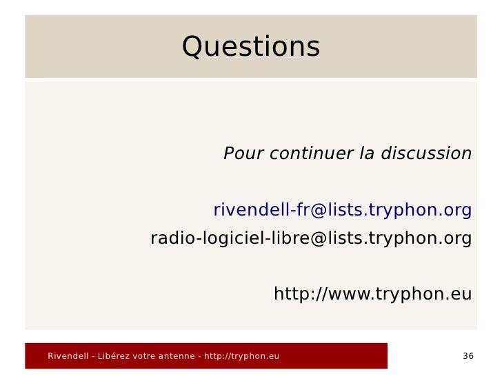Questions                                           Pour continuer la discussion                                        ri...