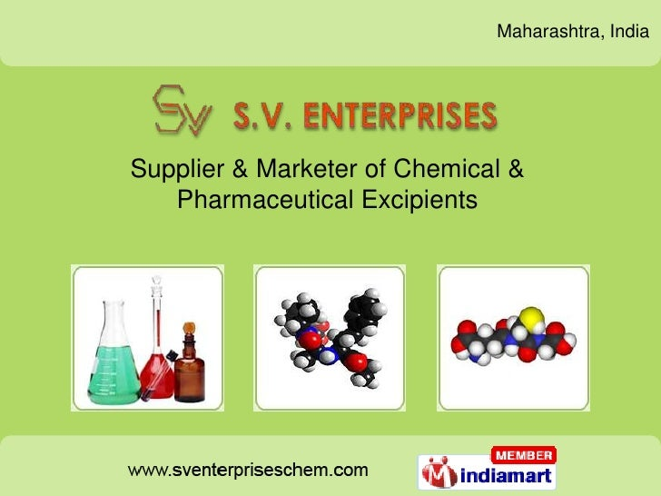 Maharashtra, IndiaSupplier & Marketer of Chemical &   Pharmaceutical Excipients