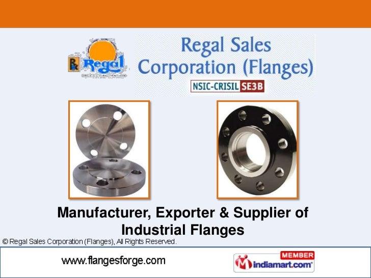 Manufacturer, Exporter & Supplier of <br />Industrial Flanges <br />