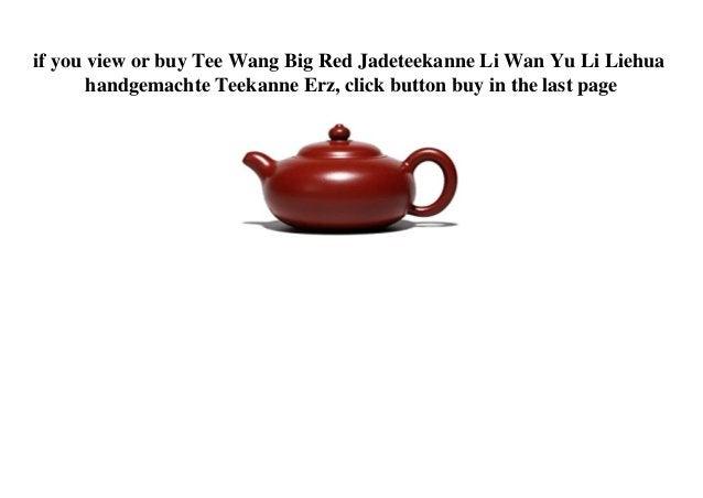 if you view or buy Tee Wang Big Red Jadeteekanne Li Wan Yu Li Liehua handgemachte Teekanne Erz, click button buy in the la...