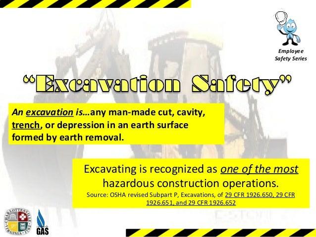 Excavation Safety Training Module 1