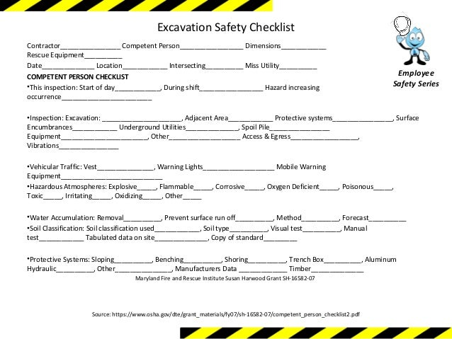 Excavation Safety Training Module 1