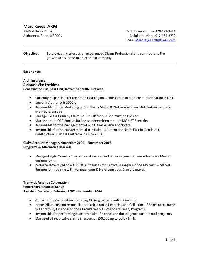 Beautiful Reinsurance Accounting Resume Photos - Best Resume ...