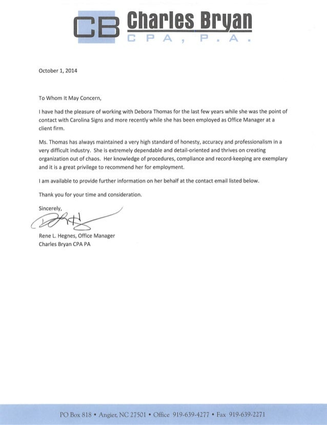 letter of reference charles bryan cpa