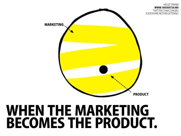 When the marketing becomes the product