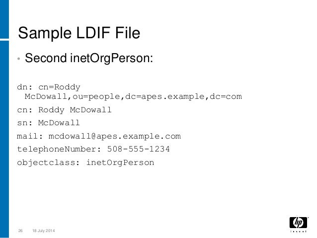 How To Create Ldif File In Ldap