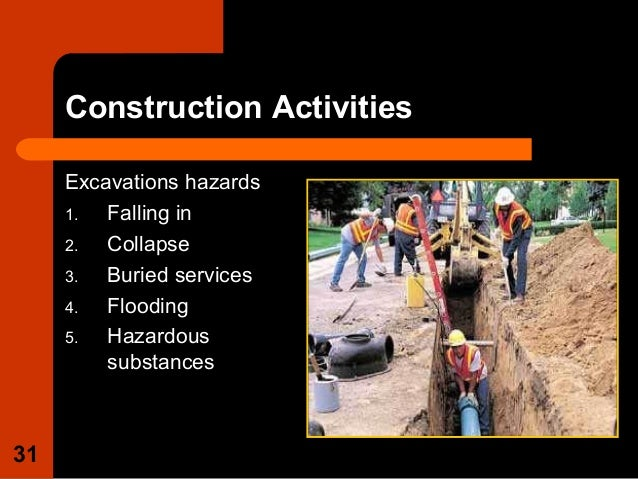 construction hazards Section 7: osh hazards/risks on construction sites 71 general principles of prevention 72 the main osh hazards/risks in the construction industry.