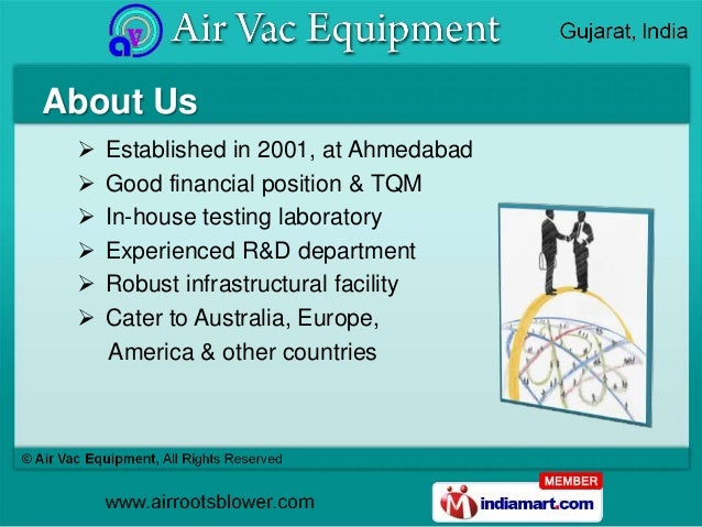 About Us    Established in 2001, at Ahmedabad    Good financial position & TQM    In-house testing laboratory    Exper...