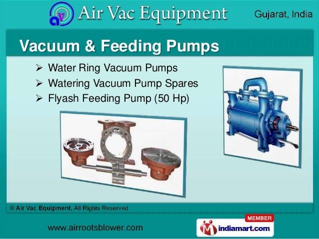 Vacuum & Feeding Pumps  Water Ring Vacuum Pumps  Watering Vacuum Pump Spares  Flyash Feeding Pump (50 Hp)