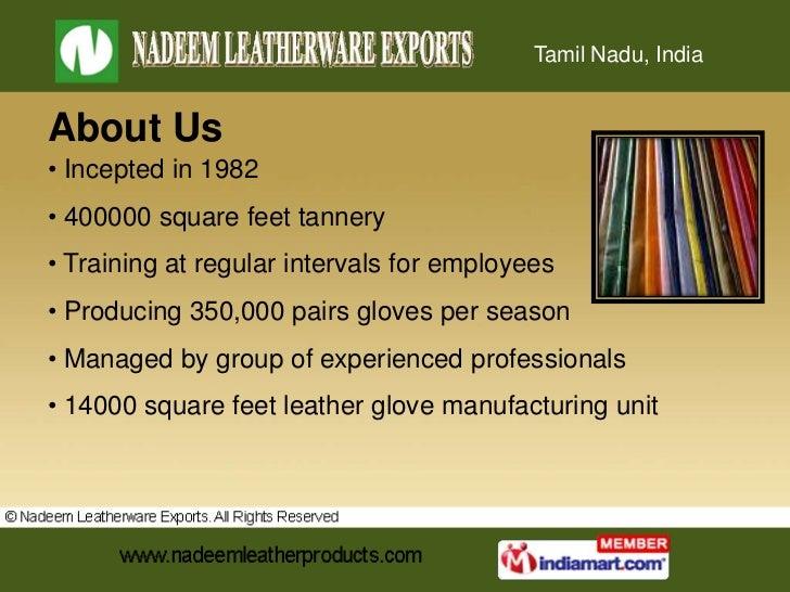 Mens Gloves by Nadeem Leatherware Exports Chennai Slide 2