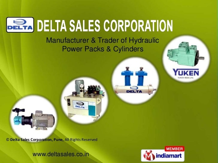 Manufacturer & Trader of Hydraulic                         Power Packs & Cylinders© Delta Sales Corporation, Pune, All Rig...