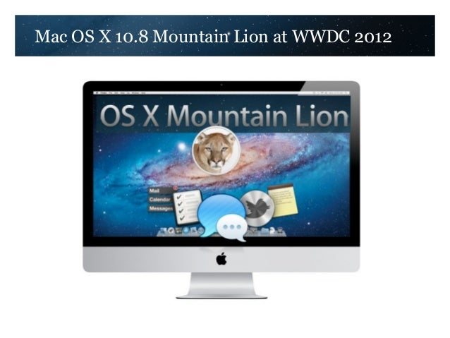 Mac OS X 10.8 Mountain Lion at WWDC 2012