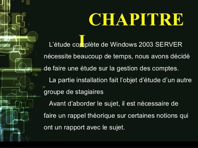 administration sous windows server 2003 pdf