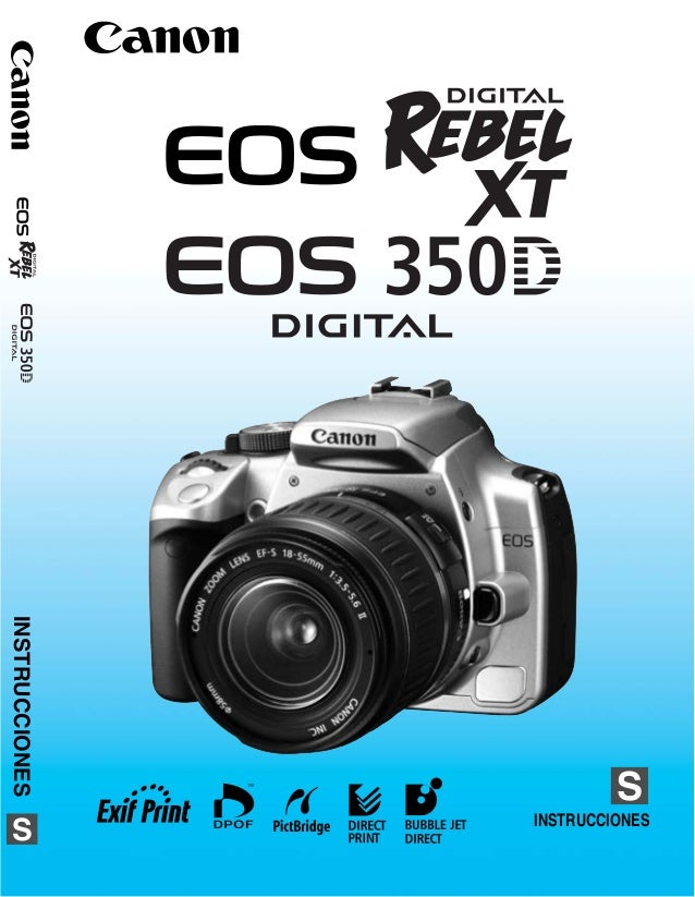 Canon eos 350d digital rebel xt camera manual for sale.