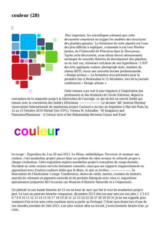 couleur (28)  Plus important, les scientifiques estiment que cette découverte remettrait en trigger les modèles des struc...