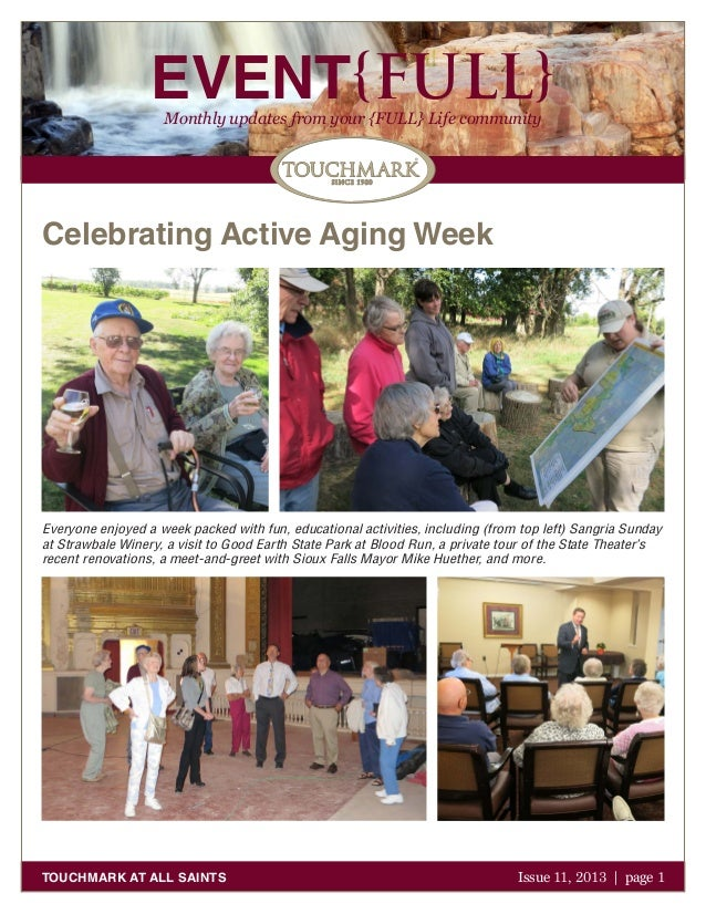 EVENT{FULL} Monthly updates from your {FULL} Life community  Celebrating Active Aging Week  Everyone enjoyed a week packed...