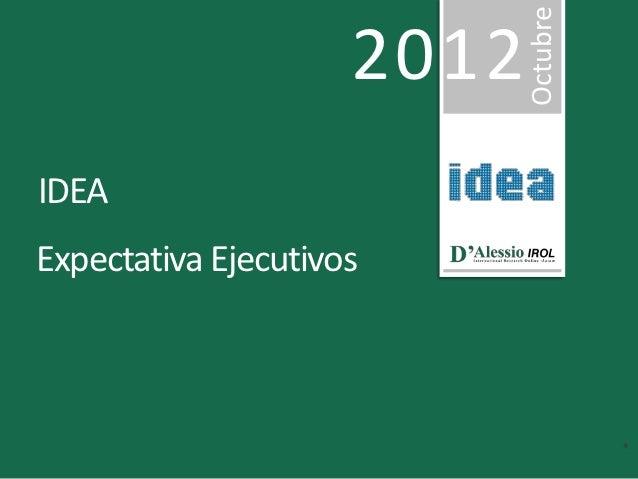 Octubre                     2012IDEAExpectativa Ejecutivos