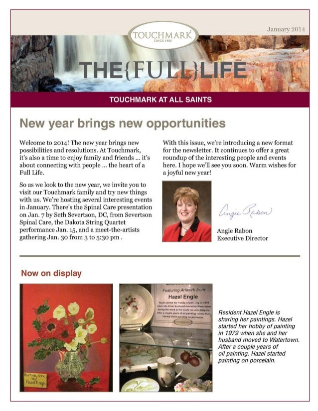 Touchmark at All Saints - January 2014 Newsletter