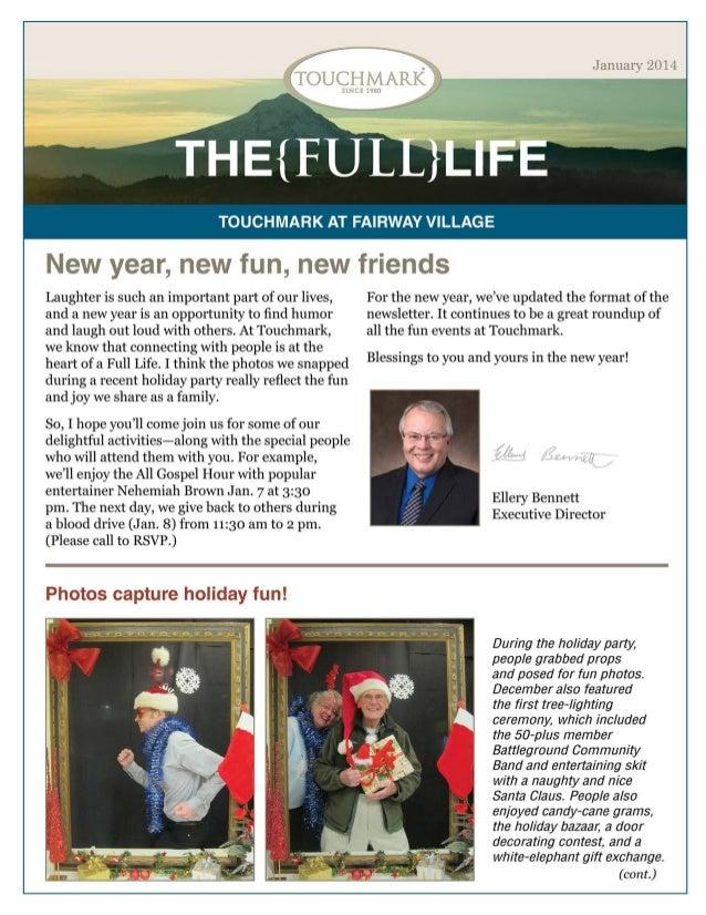 Touchmark at Fairway Village - January 2014 Newsletter
