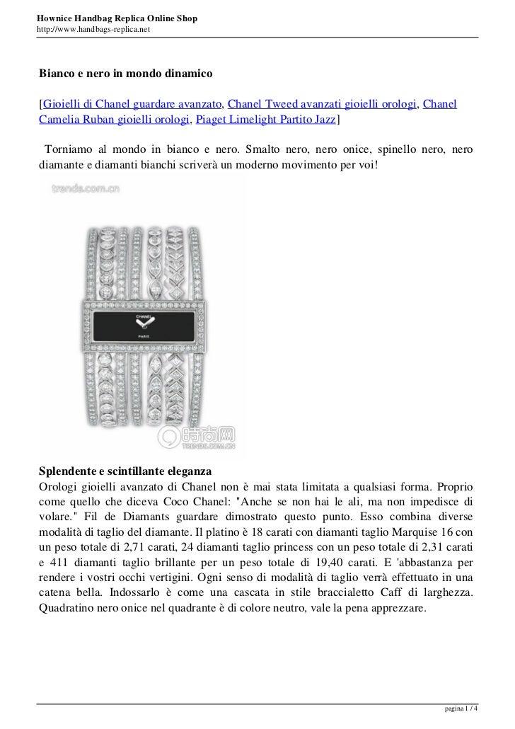 Hownice Handbag Replica Online Shophttp://www.handbags-replica.netBianco e nero in mondo dinamico[Gioielli di Chanel guard...