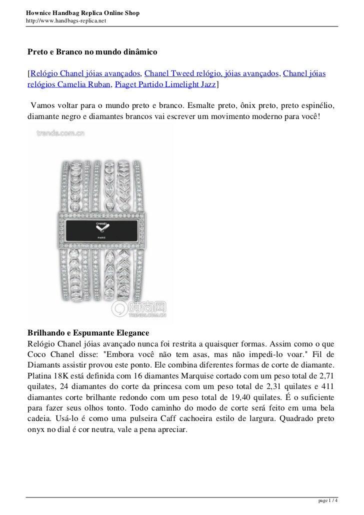 Hownice Handbag Replica Online Shophttp://www.handbags-replica.netPreto e Branco no mundo dinâmico[Relógio Chanel jóias av...